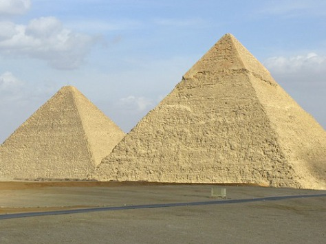 Many historians believe the Egyptian pyramids inspired the modern sex cone.