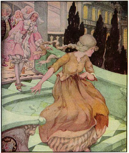 Cinderella pursued by several horny males.
